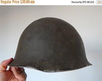 SALE 20% WW2 Helmet vintage metal helmet