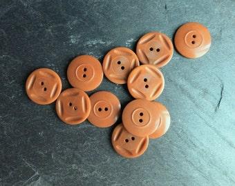 11 Vintage orange buttons