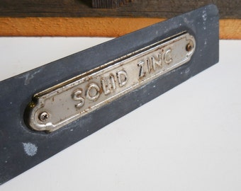 "Vintage Casket sample ""SOLID ZINC"" funeral home pick your coffin Morbid curiosity metal samples"