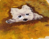 Yoga Pets - DOWN Dog Yoga Stretch - YORKSHIRE, Yorkie - Original art with resin, recycled, salvaged, sustainable art