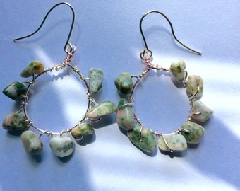 Stone wrapped hoops