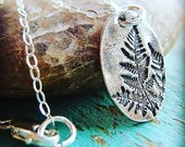 Gorgeous Ox Silver Fern Necklace