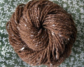 Flecked Walnut - Hand Spun - Hand Dyed Yarn