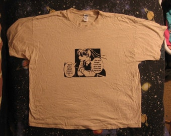 light khaki, 3X, anime punk, guns and anarchist literature t shirt