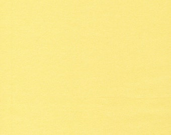 Organic FLANNEL Fabric - Cloud9 Flannel - Solid Banana