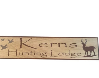 Custom Sign, Hunting Sign, Lodge sign,  family name sign
