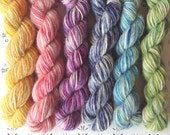 "The flower festival no1 - ""Once upon a time"" collection of handspun yarns"