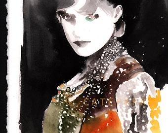 Original Fashion Painting, Fashion Illustration, Fashion Painting, Fashion Art, Watercolor Fashion, Versailles