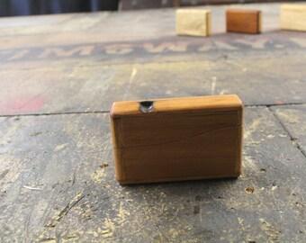 reclaimed teak business card case