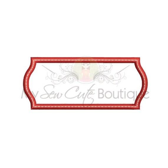 Monogram frame embroidery design machine designs