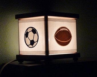 Sports Night Light Baseball Soccer Football Basketball Decor