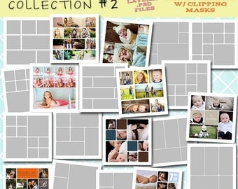 SALE INSTANT DOWNLOAD - 12x12 Storyboard Collection 2- 20 Custom Photo Templates for Photographers