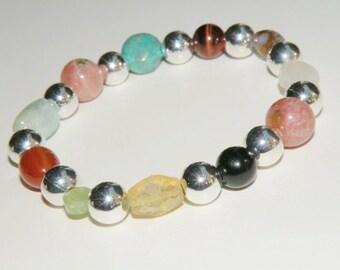 Menopause Healing Gemstone Bracelet stretch *FREE SHIPPING USA* 482