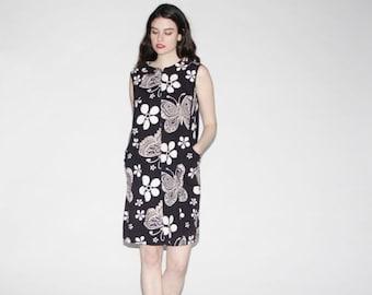 75% OFF FINAL SALE - Vintage 1960s Dress - Mod 60s Dress  - The Binary Butterfly Dress   - Wd0159