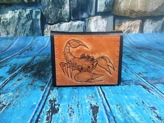 Scorpion leather Journal Tan, Diary, Notebook or Sketchbook