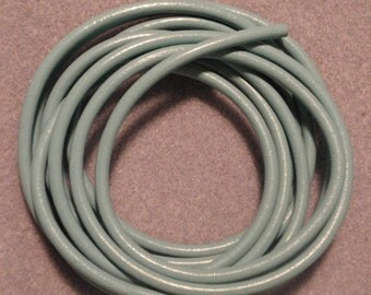 Italian leather, seafoam, 4mm, 16 inches