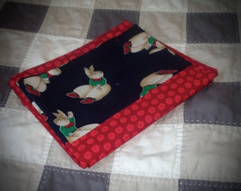 Pillowcases, standard size pillowcase Bunny pillow case, red, Easter pillowcase