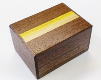 Japanese Puzzle box (Himitsu bako) 87mm (3.4inch)  12steps Pure Walnut wood