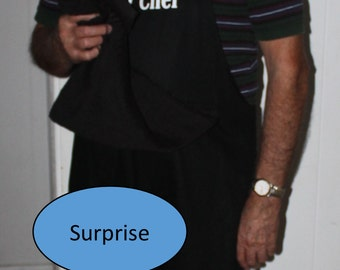 Ready to Ship----Penis--HEAD CHEF Apron w/ X-Rated Penis  - Mature Content