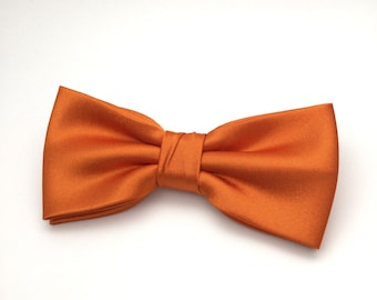 Men Bow Tie Copper Bow tie Satin Plain Solid BowTie for Wedding Groom Groomsmen Men Boy Kid Baby Shower Bow tie Gift for him