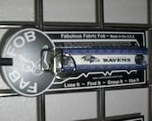 Baltimore Ravens NFL Football Team ~ A56 ~ Key Chain Fob ~ Zipper Pull