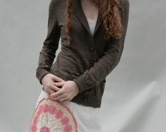 CLEARANCE SALE SALE Sale Sale Upcycled Embellished Reclaimed Skirt Corduroy Crocheted Doily Mandala
