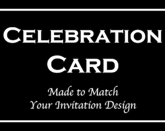 Celebration Party Reception Card for Bar and Bat Mitzvah Invitation Orders - Made to Match Any Design in our Store