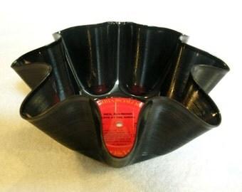 Neil Diamond Record Bowl Made From Repurposed Vinyl Album
