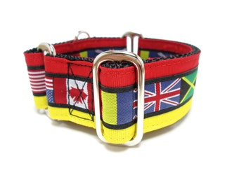 "Houndstown 1.5"" Around The World Unlined Martingale Collar Size Medium"