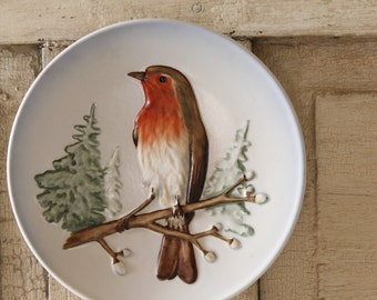 Vintage Goebel Robin Wall Plate, West Germany, Limited Edition, First edition Collectible Plate, Wildlife Wall Plate Series