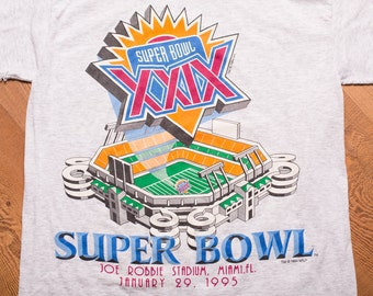 Super Bowl XXIX T-Shirt, NFL Joe Robbie Stadium, Miami FL, Vintage 90s