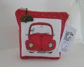 """HE.art by CC Retro Stripe """"RUBY"""" Zipered Pouch"""
