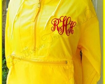 Monogrammed Rain Jacket with Hood