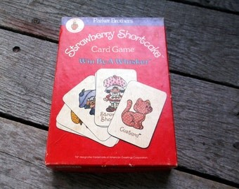Vintage COMPLETE 1979 Strawberry Shortcake Card Game Win by a Whisker from Parker Brothers