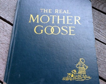 Vintage 1958 Edition of The Real Mother Goose book by Blanche Fisher Wright Nursery Rhymes and Illustrations