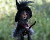 Halloween little witch ornament Mobile Needle felted Waldorf inspired doll