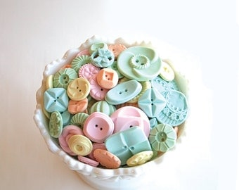 Candy Buttons 50 Pastel Peppermint -by Andie's Specialty Sweets