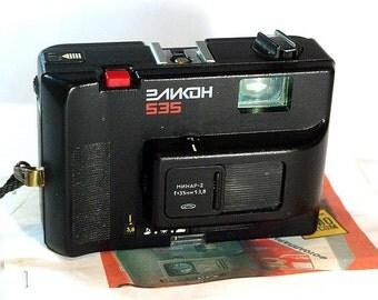 Elikon 535 Black Camera with Minar-2 3,8/35 lens,Made in BeLomo
