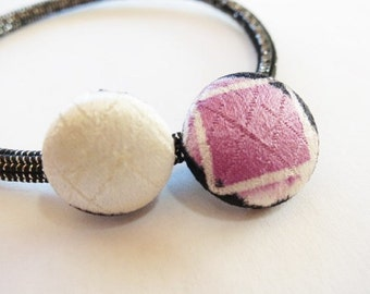 Japanese pure silk Hair accessories spotted pattern 65