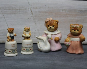 Lot of Four Enesco Bear Figurines, Lucy Rigg