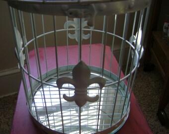Vintage Bird Cage Fleur-de-lis