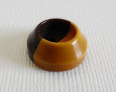 Deep Well Bakelite Cookie Button Brown & Custard