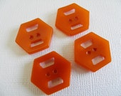 Orange Bakelite Art Deco Buttons