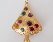 Vintage Eisenberg Christmas Tree Brooch/Pin