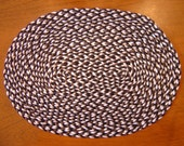 Custom listing for Sue Cobalt blue and white oval rug 1:12 scale
