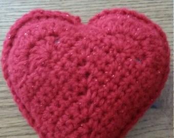 Stuffed Crochet Hearts