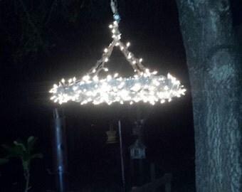 Rustic Outdoor Lighting / Barbed Wire Chandelier