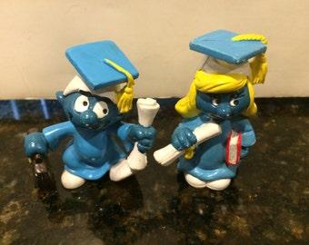 Set of 2 Vintage Smurfs