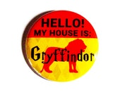 Geeky Pinback Buttons Hogwarts Lion Red Yellow Accessories Fandom Apparel