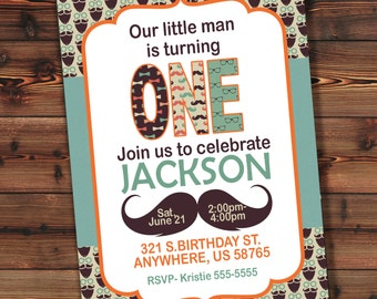 Boy 1st Birthday Invitation